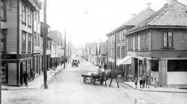 Forretningsdrift i Pedersgata i over 100 år fra 1860tallet.