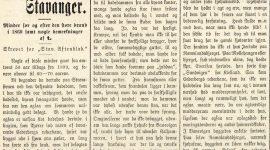 Fra det gamle Stavanger 1899