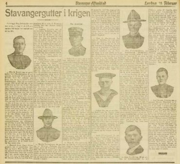 Rogalendinger som deltok i 1. verdenskrig del 5