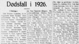 Dødsfall i 1926