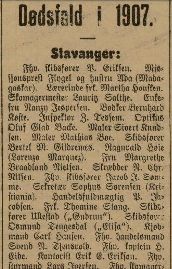 Dødsfall i 1907