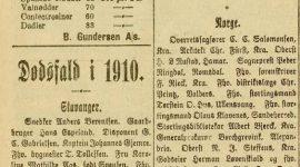 Dødsfall i 1910