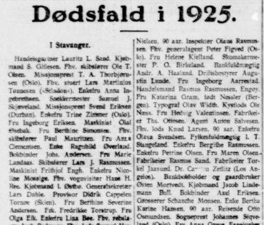 Dødsfall i 1925