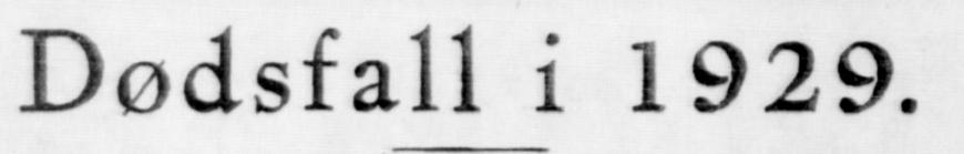 Dødsfall i 1929