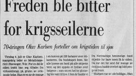 Folk fra Pedersgata – Olav Karlsen – krigsseiler – 1940-1945