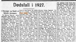 Dødsfall i 1927