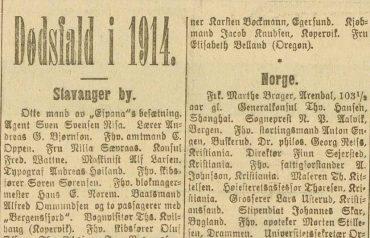 Dødsfall i 1914
