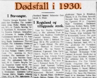 Dødsfall i 1930