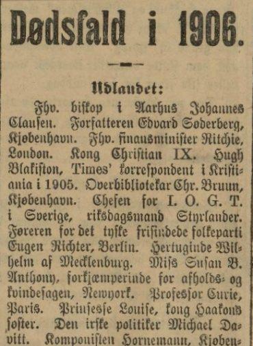 Dødsfall i 1906