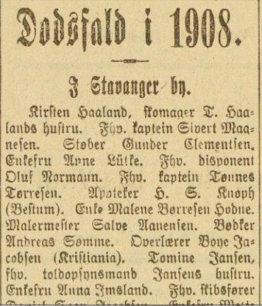 Dødsfall i 1908