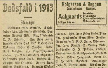 Dødsfall i 1913