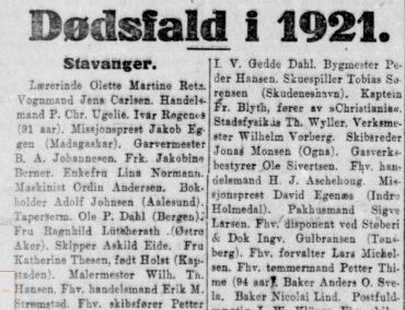 Dødsfall i 1921