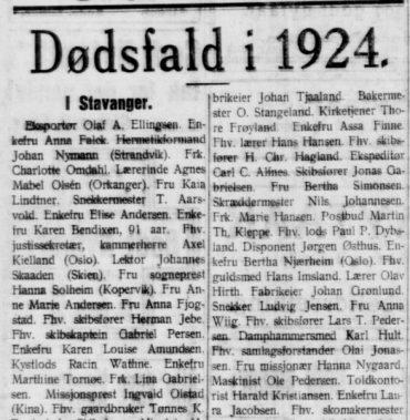 Dødsfall i 1924