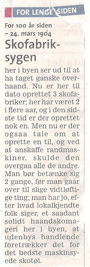 Skofabrikker 1901-1972