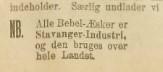 Felles annonse for forretninger i Stavanger 1912