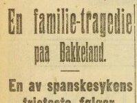 Spanskå, en epidemi som herjet rundt 1918- 1920